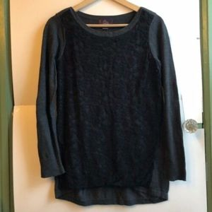 OH BABY BY MOTHERHOOD Black Lace Long Sleeve Top